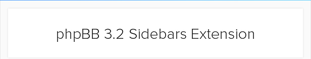 phpBB 3.2 Sidebar Extension - Responsive - 1